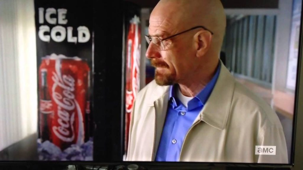 Coca-Cola haciendo product placement en la serie Breaking Bad.