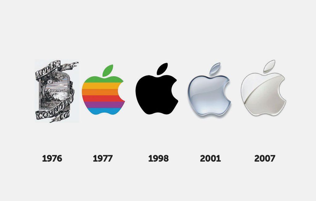 La marca Apple ha pasado por varios procesos de rebranding para llegar a ser lo que es ahora.