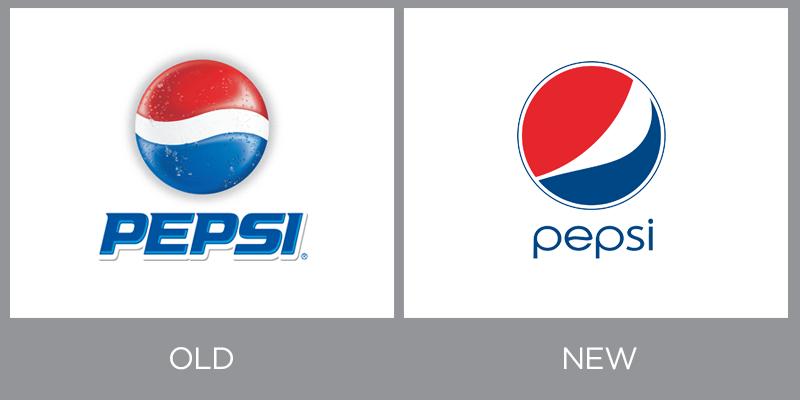 A pesar de su constante rivalidad con Coca-Cola, la marca Pepsi a precisado renovarse con el fin de mantenerse relevante en la época.